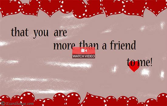 More Than A Friend!