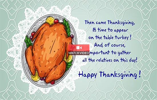 A Thanksgiving Message!