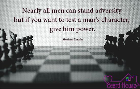 Testing a man
