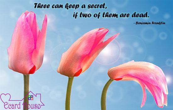 Never Share Secrets.
