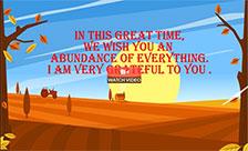 Abundant Thanksgiving Blessings!