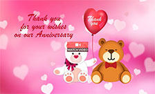 Anniversary Thank You Wish!